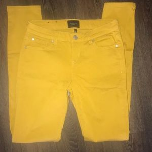 Denim - Size 3/26 mustard colored jeans